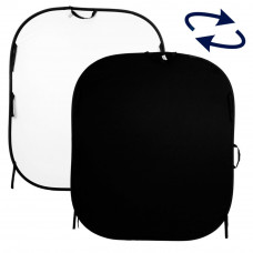 Фон складной Lastolite Plain Collapsible Reversible 1.5 x 1.8m Black/White, арт.LL LC5621