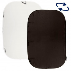 Фон складной Lastolite Plain Collapsible Reversible 1.8 x 2.75m Black/White, арт.LL LB6921
