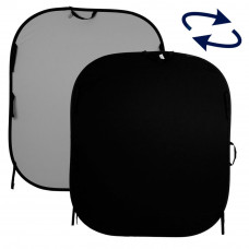 Фон складной Lastolite Plain Collapsible 1.8 x 2.15m Black/Mid Grey, арт.LL LB67GB