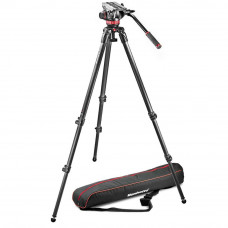 Видеоштатив с головкой Manfrotto MVK502C-1 Professional Fluid Video System/ Carbon / Single legs, арт.MVK502C-1