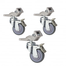 KC-100S Caster set 100 mm, legs size 25.4x25.4 mm