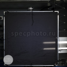 Текстильное полотно LA Rag House 4' x 4' Full Grid Cloth Black, арт.44FGSBD