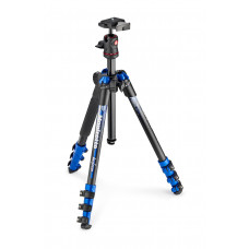 Штатив Manfrotto MKBFRA4BL-BH BeFree Color Aluminum Travel Tripod (Blue), арт.MKBFRA4BL-BH
