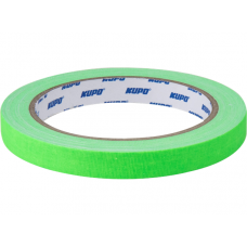 Тейп Kupo CS-1215GN Cloth Spike Tape, green 12mm/13,72m, Скотч зеленый, арт.CS-1215GN