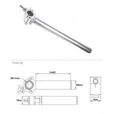Зажимы Kupo KCP-802 Arm Coupler w/Tube 500 mm. Хомут с удлинителем, арт.KCP-802