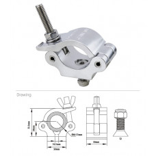 KUPO KCP-831ST Half Coupler w/Stainless Steel Parts. Хомут (M10)