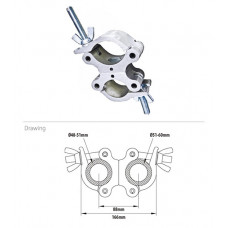 KUPO KCP-857 Mighty Half Swivel Coupler. Хомут двойной